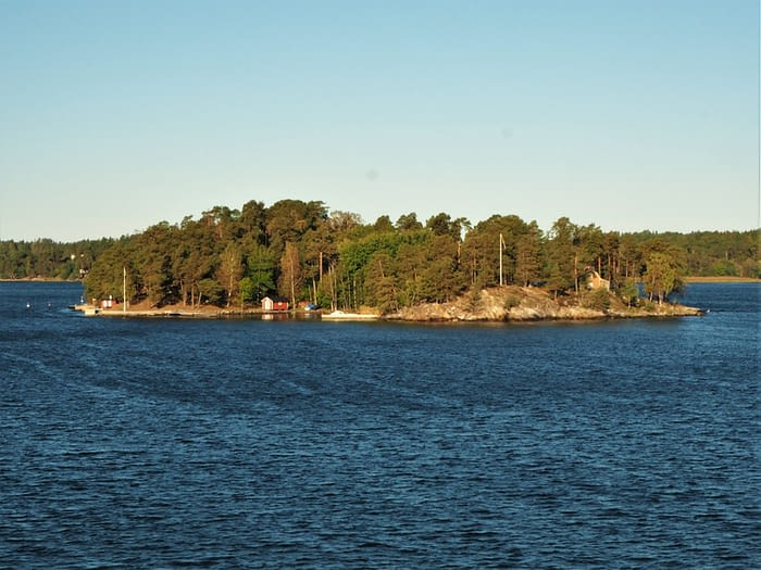 Small island in the Stockholm Archipelago, Sweden