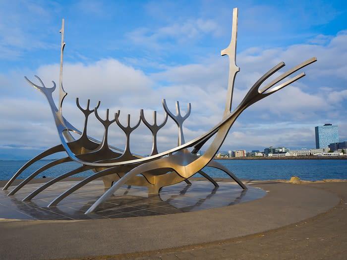 Sun Voyager Sculpture, Reykjavik, Iceland
