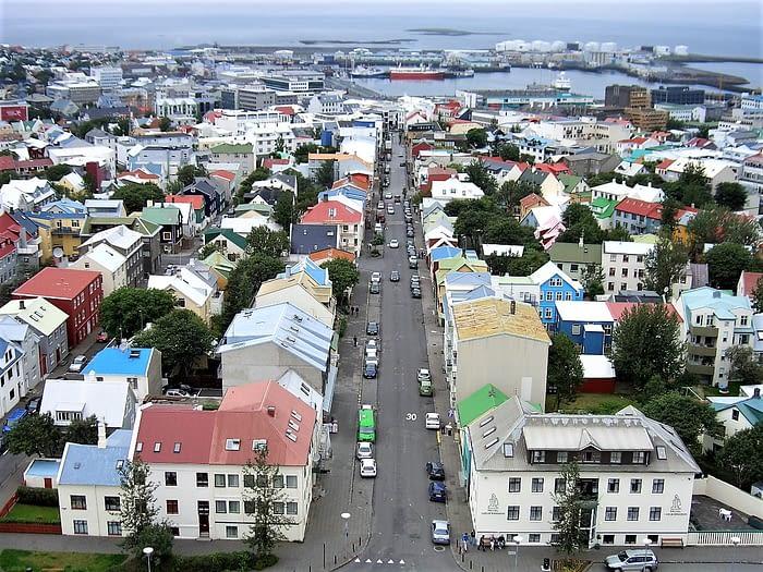 View from Hallgrímskirkja tower, Reykjavik, Iceland