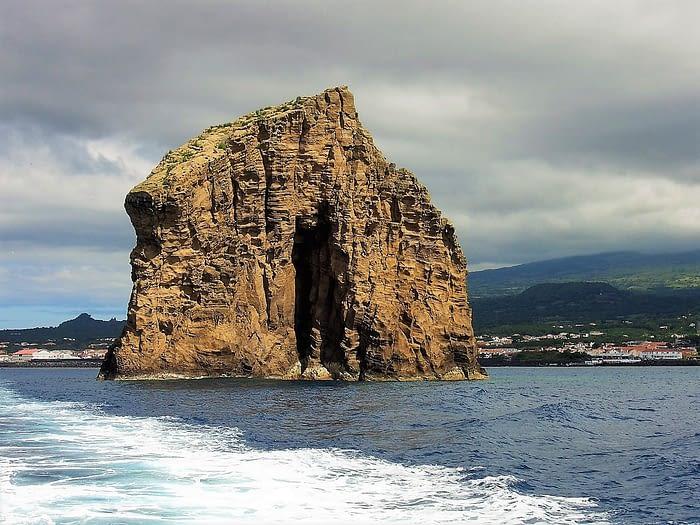 Rock between Madalena, Pico, and Horta, Faial, The Azores