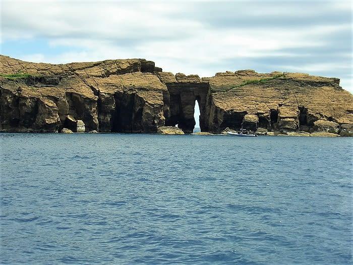 Rocks between Madalena, Pico, and Horta, Faial, The Azores