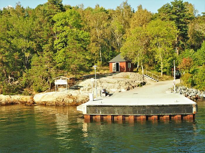 Landing stage on Grinda Island in the Stockholm Archipelago, Sweden