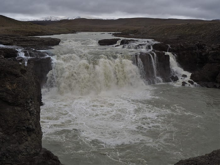 Waterfall on the F35 highland route, Iceland