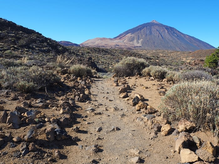 View of Mount Teide from Sendero 6, Teide National Park, Tenerife