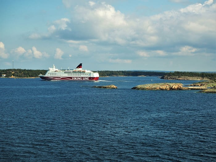 Ferry in the Stockholm Archipelago, Sweden