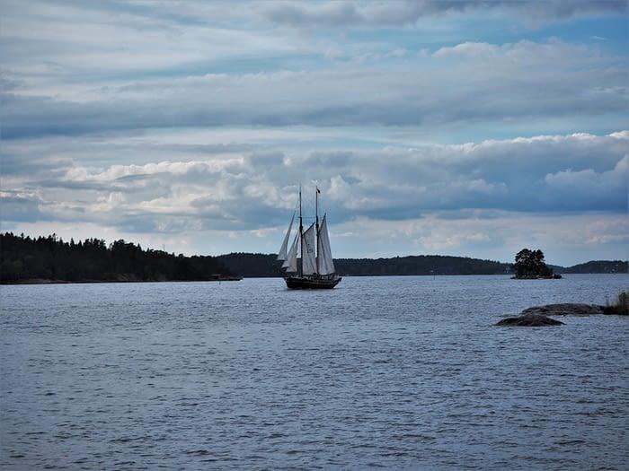 Sailing boat in the Stockholm Archipelago, Sweden