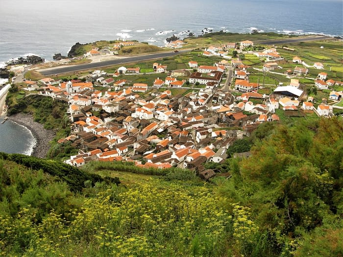 Vila Nova and airstrip, Corvo, The Azores