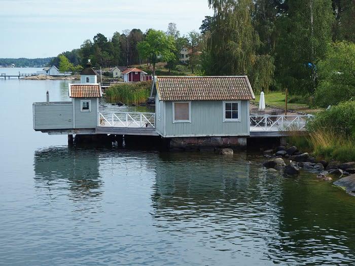 Boat house in the Stockholm Archipelago, Sweden