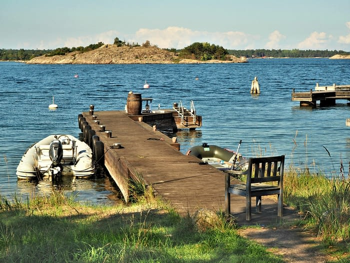Jetty at Sandhamn in the Stockholm Archipelago, Sweden