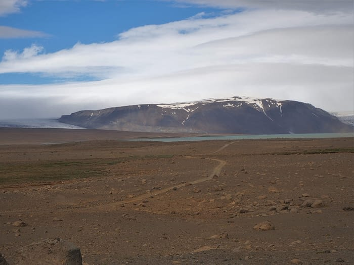 Landscape on the F35 Highland Route, Iceland