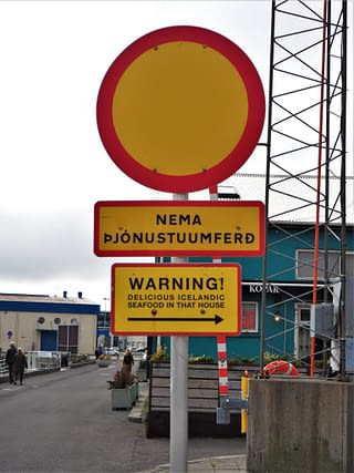 Quirky sign in Reykjavik, Iceland