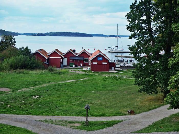 View from the Grinda Wardshus, Grinda Island in the Stockholm Archipelago, Sweden
