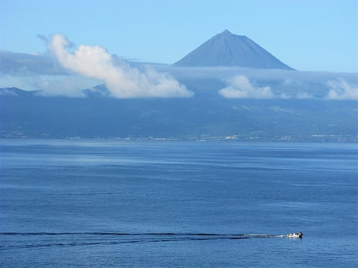 View of the volcano on Pico island, The Azores