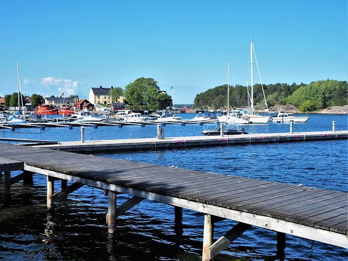 Harbour at Sandhamn in the Stockholm Archipelago, Sweden