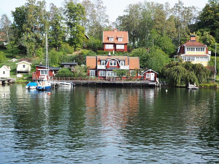 Coastal properties in the Stockholm Archipelago, Sweden