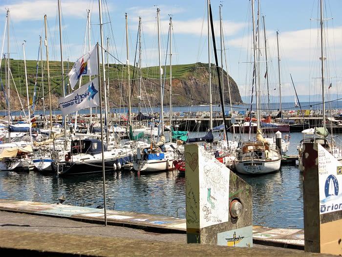 Hota's harbour, Faial, The Azores